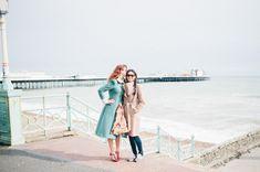 Engagement Shoot | Brighton | Vintage Style | Kitty Wheeler Shaw Photography | http://www.rockmywedding.co.uk/jessica-claudia/