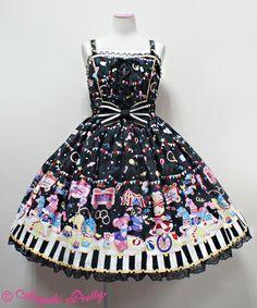 Angelic Pretty Fantasy Theater JSK /// ¥27,090 /// Bust: 89~110 cm Waist: 72~94 cm Length: 85 cm + 3 cm lace