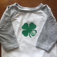 Monogram St. Patrick's Day shirt decal