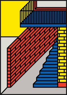 His name is Peter Judson. He's a Designer and Printmaker based in London. Between Memphis Group, 8-bit video-games, Lego and postmodern aesthetics, his axonometric illustrations of domestic interiors, architectural details and vehicules resonate in an atemporal bold primary colour palette.
