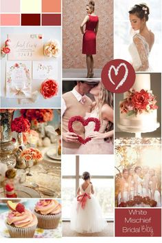 Cranberry and Peach delight wedding inspiration