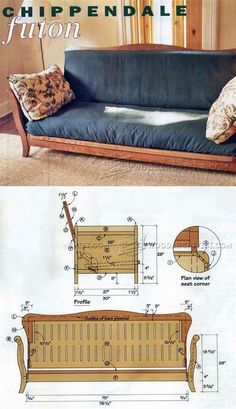 Futon Frame Plans - Furniture Plans and Projects | WoodArchivist.com
