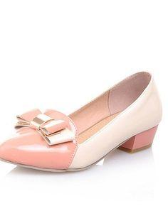 X&D Damenschuhe - High Heels - Outddor / Büro / Lässig - Lackleder - Blockabsatz - Absätze / Komfort / Spitzschuh - Schwarz / Blau / Rosa - http://on-line-kaufen.de/tba/x-d-damenschuhe-high-heels-outddor-buero-laessig-6