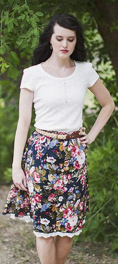 Chelsea Floral Skirt by ModestPop