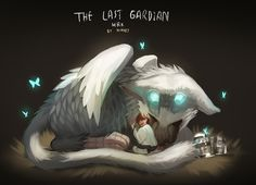 Explore the The Last Guardian collection - the favourite images chosen by CarameliaBriana on DeviantArt. Fantasy Creatures, Mythical Creatures, Beast Creature, Video Game Art, Dark Souls, Fantastic Beasts, Beautiful Artwork, The Guardian, Fantasy Art