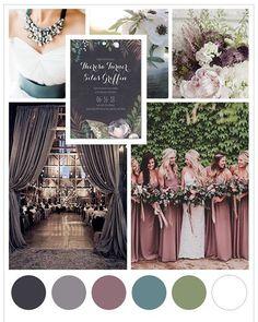 Pair deep jewel tones & dark foliage for your fall nuptials.  #WeddingInspiration2017