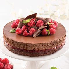 Gâteau-mousse au chocolat et framboises - Les recettes de Caty 200 Calories, Mini Desserts, Biscuits Graham, Food, Raspberries, Kitchens, Irish Cream, Essen, Meals