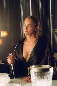 sharon stone in Basic Instinct Ok technically that's a ice pick but u can slit stab lol