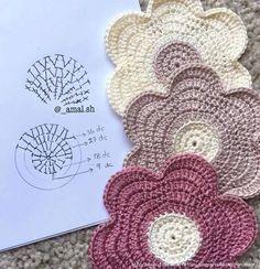 Схемы вязания простых цветочков и звездочек (2) (619x640, 271Kb)