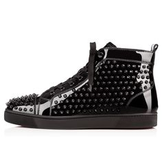 Men Shoes - Louis Spikes Men's Flat - Christian Louboutin