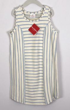 18eda332b65 Hanna Andersson 130 French Terry Striped Dress Sleeveless Just Beachy Size  8 for sale online