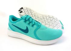 classic fit fb3ac 966f9 Details about Nike women Free RN Commuter running shoes sneakers trainers  Turquoise   Green