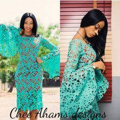 Check out these Dripping Hot Aso Ebi Styles Perfect For The Season. Aso ebi styles are like a custom and tradition in Nigeria especially at Lagos African Lace Styles, African Lace Dresses, African Fashion Dresses, Nigerian Lace Styles, African Style, African Attire, African Wear, African Women, Lace Dress Styles