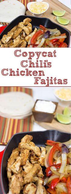 Copycat Chili's Chicken Fajitas - A Tasty Homemade Version! Copycat Chili's Chicken Fajitas - A Tasty Homemade Version! Copycat Chili's Chicken Fajitas - A Tasty Homemade Version! Copycat Chili's Chicken Fajitas - A Tasty Homemade Version! Chilis Chicken Fajita Recipe, Chicken Fajita Rezept, Chicken Fajitas, Chicken Chili, Chicken Recipes, Steak Fajitas, Fajita Marinade, Chilis Copycat Recipes, Mexican Food Recipes
