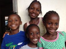 Smiling children in Sierra Leone