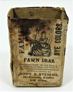 Civil War 1863 Dated Fabric Dye | Union Drummer Boy