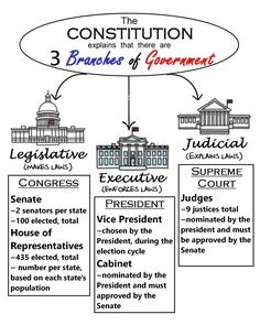 3 Branches of Government ~ Anchor Charts * Jungle Academy Government Lessons, Teaching Government, 3rd Grade Social Studies, Teaching Social Studies, Teaching Plan, Teaching Kids, Constitution For Kids, Electoral College Map, 3 Branches Of Government