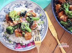 poulet sauté sesame brocolis riz