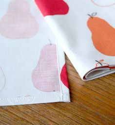 Cloth napkins- picked up fabric to make some of these tonight! We use about 20 napkins a day!