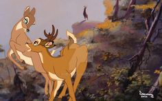 Bambi and Feline Bambi Disney, Old Disney, Disney Fan Art, Disney Love, Disney Magic, Disney Pixar, Disney Characters, Bambi Art, Deer Art