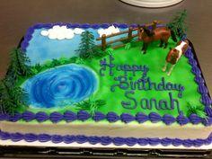 Cowboy Birthday Cakes, Cowboy Cakes, Horse Birthday Parties, 8th Birthday, Horse Party, Cowgirl Party, Horse Cake, Communion Cakes, Pony Party