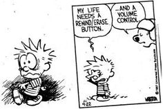Calvin and Hobbes - life needs a rewind/erase button