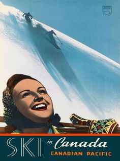Ski-in-Canada-Canadian-Pacific-Vintage-Travel-Advertisement-Art-Poster-Print
