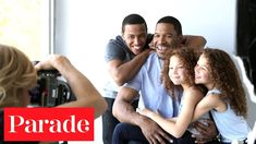 Michael Strahan with his youngest children, Michael Jr., Isabella ...