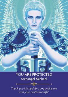 Image result for archangel michael angel card