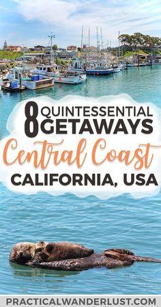 California Travel Guide, Visit California, San Simeon California, Pismo Beach California, San Luis Obispo California Things To Do, Cambria California, California Vacation, Central California, Central Coast