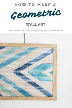 Make this DIY Geometric wall art and add a touch of Modern art mixed with a little vintage touch. This Geometric wall art is quick and easy to make! Diy Artwork, Diy Wall Art, Diy Wall Decor, Diy Home Decor, Artwork Ideas, Spring Home Decor, Spring Art, Geometric Wall Art, Barn Quilts