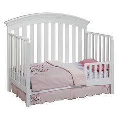 Delta Bennington Bell Curved Lifetime Crib White