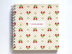 2016 Weekly Planner/Diary - Handmade by Miss Meg Shop #2016 #twentysixteen #planner #diary #stationery #handmade #etsy #missmegshop #recycled #paper #fabric #strawberries #organise #organize #newyear #newyearsresolutions #goals