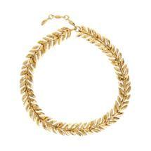 Aurélie Bidermann Gold Lunada Bay Leaf Collar at Barneys