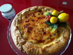 Crostata Crema e Amarena di Cle (Black cherry almond and custard tarte)