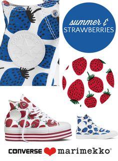 Marimekko strawberry print Converse #pinhonest