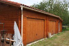 très grand garage en bois avec atelier bois #garagebois