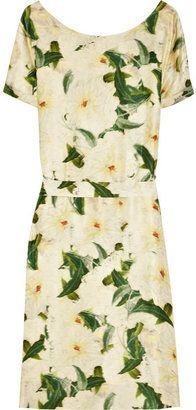 ShopStyle: Erdem Anneli floral-print silk-satin dress