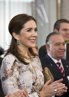 Denmark's Crown Princess Mary participates in the Seminar 'Efficient and sustainable nation' in Mexico City, on 12.11.13.