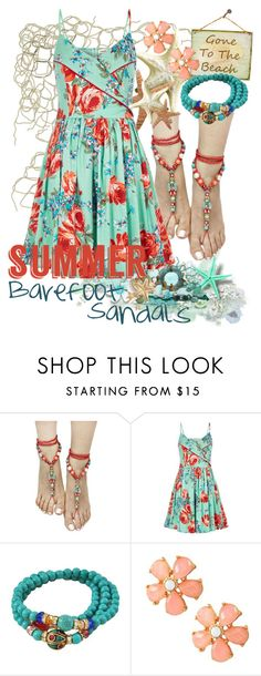 """""""Barefoot Beach Sandals"""" by shoppe23 ❤ liked on Polyvore featuring Louche and summersandals"""