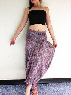 Women Harem Pants Yoga Pants Drop Crotch Aladdin Maxi Pants Boho Pants Gypsy Pants Genie Pants Jumpsuits & Rompers Red Blue (HP142)