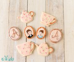 Jane Austen Tea Party Cookies Jane Austen Tea Party Cookies I made these cookies for a friend's daughter's Jane Austen Tea Party birthday. What a fun theme! My... #featured-cakes #mothers-day #tea-cup #teapot #tea #teacup #cakecentral