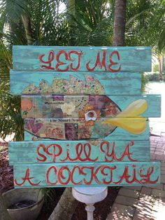 Cocktail Fish by artbylorilynn on Etsy, $575.00
