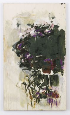 "From Cheim & Read, JOAN MITCHELL, ""UNTITLED"" (1965), Oil on canvas, 76 3/4 × 44 3/4 in"