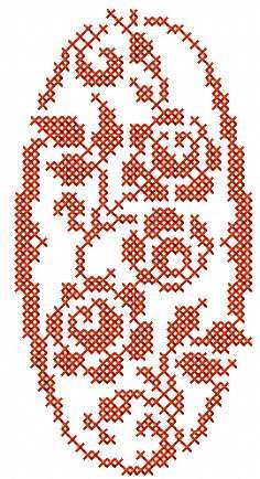 Red flower cross stitch free embroidery design 28 - Cross stitch machine embroidery - Machine embroidery community