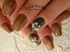 Chip N' Dale by Stoneycute1 - Nail Art Gallery nailartgallery.nailsmag.com by Nails Magazine www.nailsmag.com #nailart