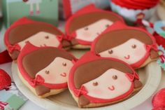 Little Red Riding Hood Girl Fairytale Storybook Birthday Party Planning Red Riding Hood Party, Fairytale Party, Cookies For Kids, Red Party, Festa Party, Happy B Day, Cookie Designs, Childrens Party, Little Red