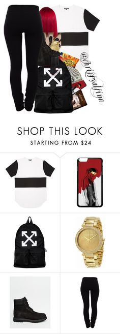 """Got the August Alsina album ""Testimony"""" by chrissyalsina ❤ liked on Polyvore featuring beauty, Off-White, Michael Kors, Timberland and Helmut Lang"
