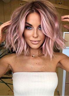 Light Pink Hair, Hair Color Pink, Cool Hair Color, Unique Hair Color, Trendy Hair Colors, Dusty Pink Hair, Cute Hair Colors, Different Hair Colors, Fall Hair Colors