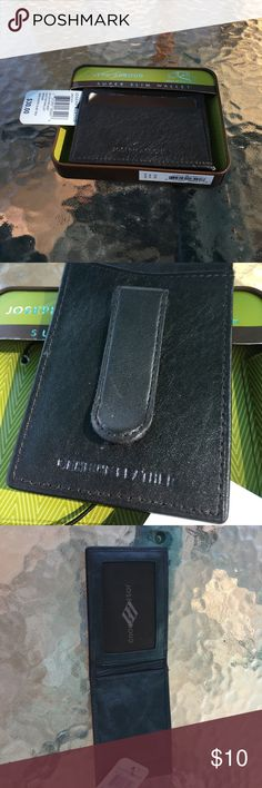 Joseph Abboud super slim wallet  NWT Super slim leather wallet with clip see pics men or ladies Joseph Abboud Bags Wallets
